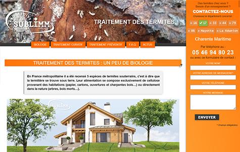 Traitement des termites - Laboratoire Sublimm